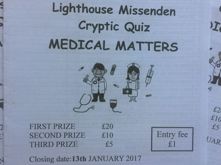 Lighthouse Cryptic Quiz Answers
